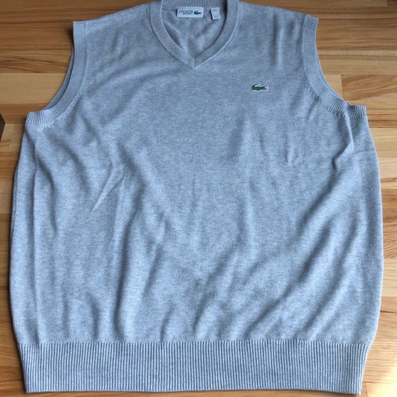 2721514d62 Men's Lacoste V-Neck Sweater Vest